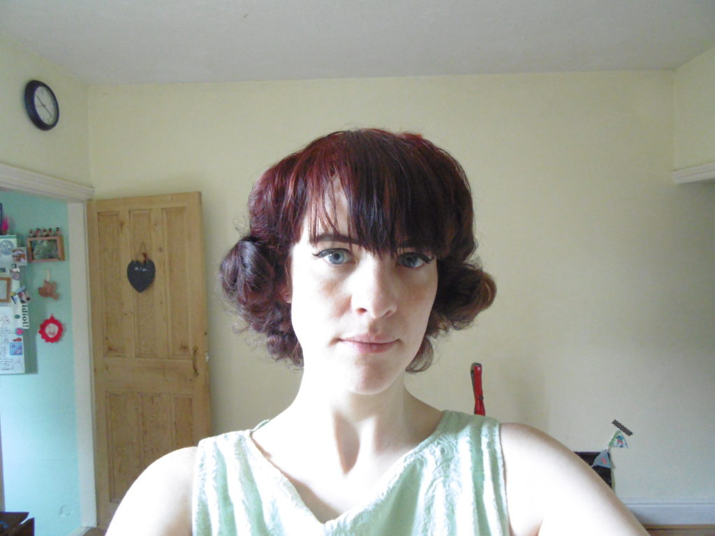 vintage curls after setting middy