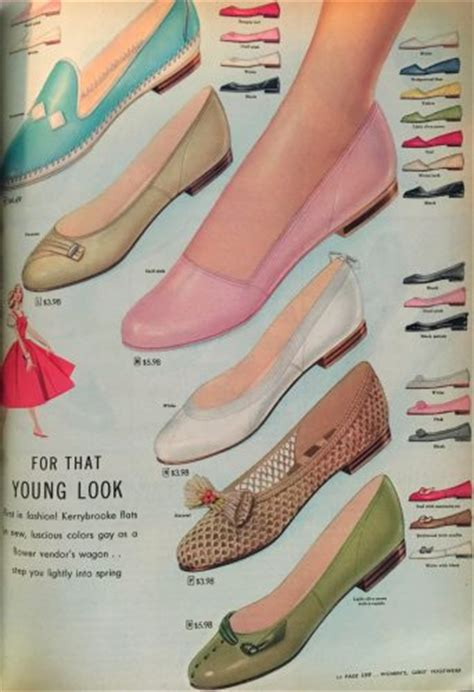 vintage spring style, vintage shoes, 1950s spring style,