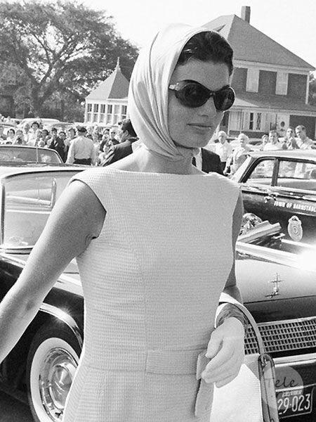 Jackie Kennedy style tips sunglasses headscarf